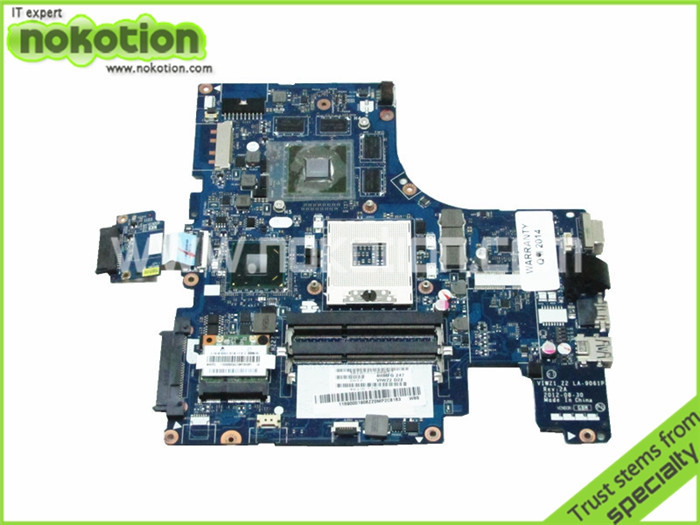 Laptop Motherboard for Lenovo ideapad Z500 VIWZ1_Z2 LA-9061P HM76 NVIDIA N13P-GLR-A1 DDR3 Free Shipping da0lz1mb6e0 for lenovo ideapad z380 laptop motherboard with nvidia geforce gt610m video card