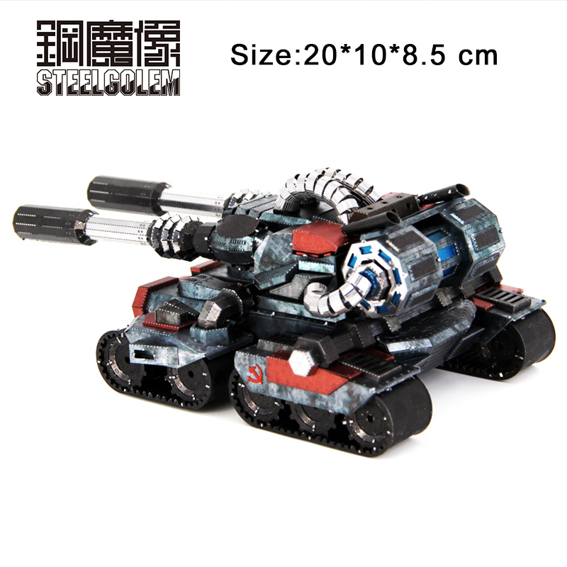 Colorful Apocalypse Tanks High-quality 3D Metal Kits Model Puzzle Educational Collection Birthday Gift Jigsaw Kids Manual Toys 2016 mu 3d metal puzzle star craft terran colorful battle cruise ym m015 diy 3d metal puzzle kits laser cut models jigsaw toys