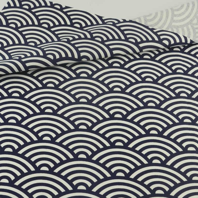 Retro Clouds Black Cotton Fabric Tecido Patchwork Bedding Decoration Teramila Fabrics Sewing Cloth Craft
