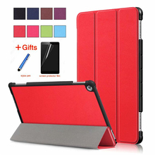 Case For Huawei MediaPad M5 lite 10 BAH2-W19/L09/W09 10.1Tablet PC stand cover for huawei mediapad C5 10inch case+Stylus+Film tablet case for for huawei mediapad m5 lite 10 1 bah2 w09 l09 w19 soft silicone case pu leather flip cover stand coque