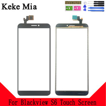 Keke Mia 5.7 For Blackview S6 Touch Screen Glass Panel Digitizer Sensor Touchpad Front Repair Spare Parts