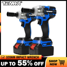 TENWA Impact Wrench Electric Wrench Brushless Socket Wrench 21V 4000mAh Li Battery Hand Drill Installation Power Tools(China)