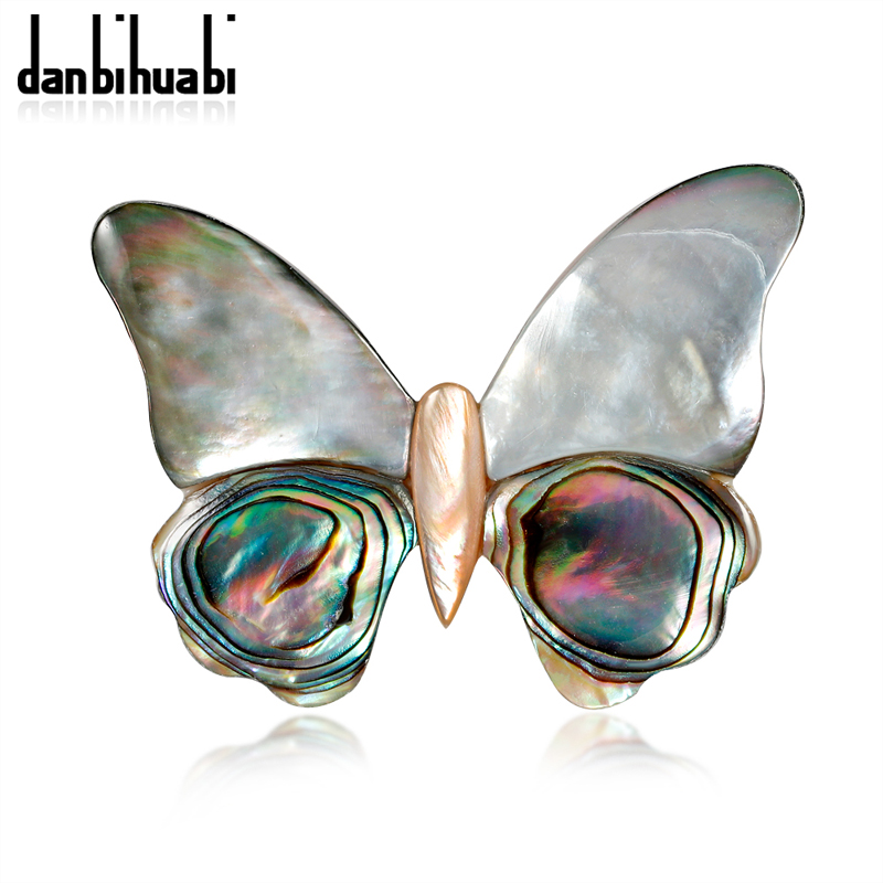 danbihuabi Vintage Butterfly Shell Enamel Pins and Brooches for Women Wedding Bouquets Green Alloy Animal Pins Brooch Jewelry
