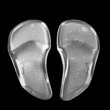 1 Pair Reusable Washable Silicone Gel Forefoot Shoes Cushions High Heel Boots Pain Relief Arch Support Pad Inserts