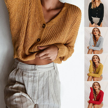 S-XL autumn winter  sweaters women sweater dresses 2018 cardigan pure color loose