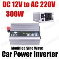 Groothandel transformator modifier sinus 12 V DC naar AC 220 V Auto Auto Omvormer Converter Adapter 300 W