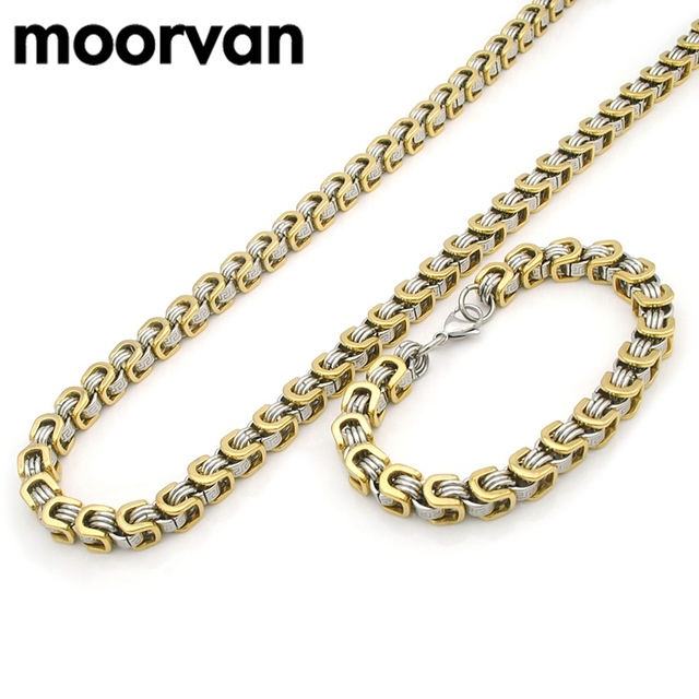 Aliexpress buy moorvan steampunk vintage greek key jewelry set moorvan steampunk vintage greek key jewelry set for man squared stainless steel men jewellery 2pc necklaces aloadofball Images