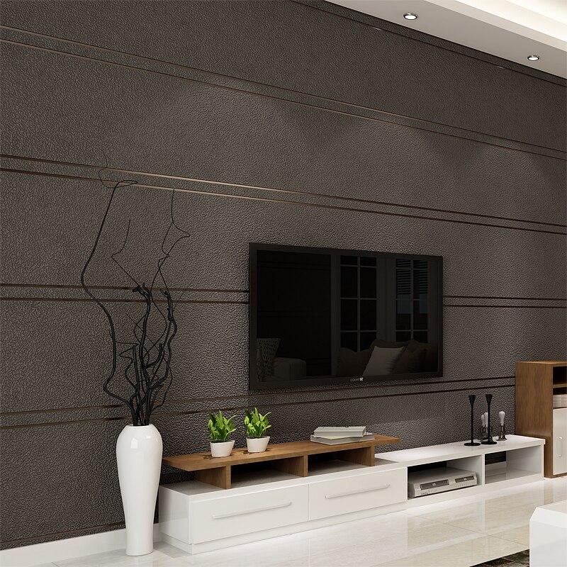 Papier peint moderne Simple De rayures De marbre De daim pour le rouleau De mur Papel De Parede 3D Non-tissé bureau papier peint salon chambre