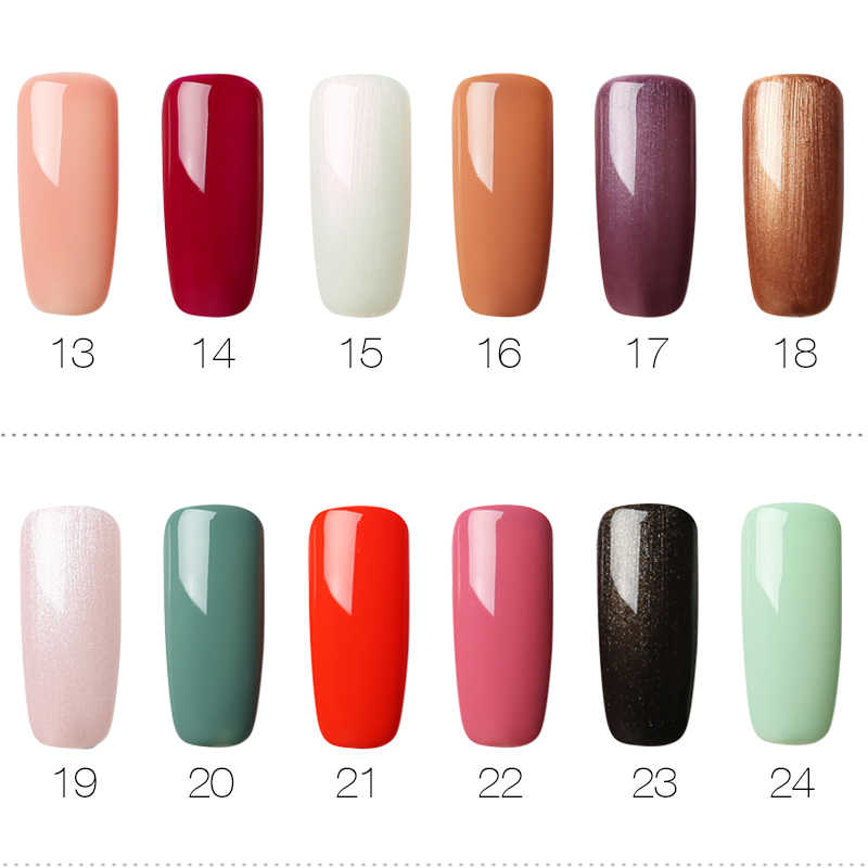 ROSALIND 10 stks/set Gel Nagellak Pure Kleur Serie Gift Gel Vernissen Voor Manicure Soak Off Nail Design Art Base en Top Coat