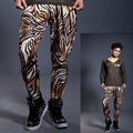Original design fashion skinny pants hot pants leopard print England 1 pants trousers men brand 1 pants Customizable