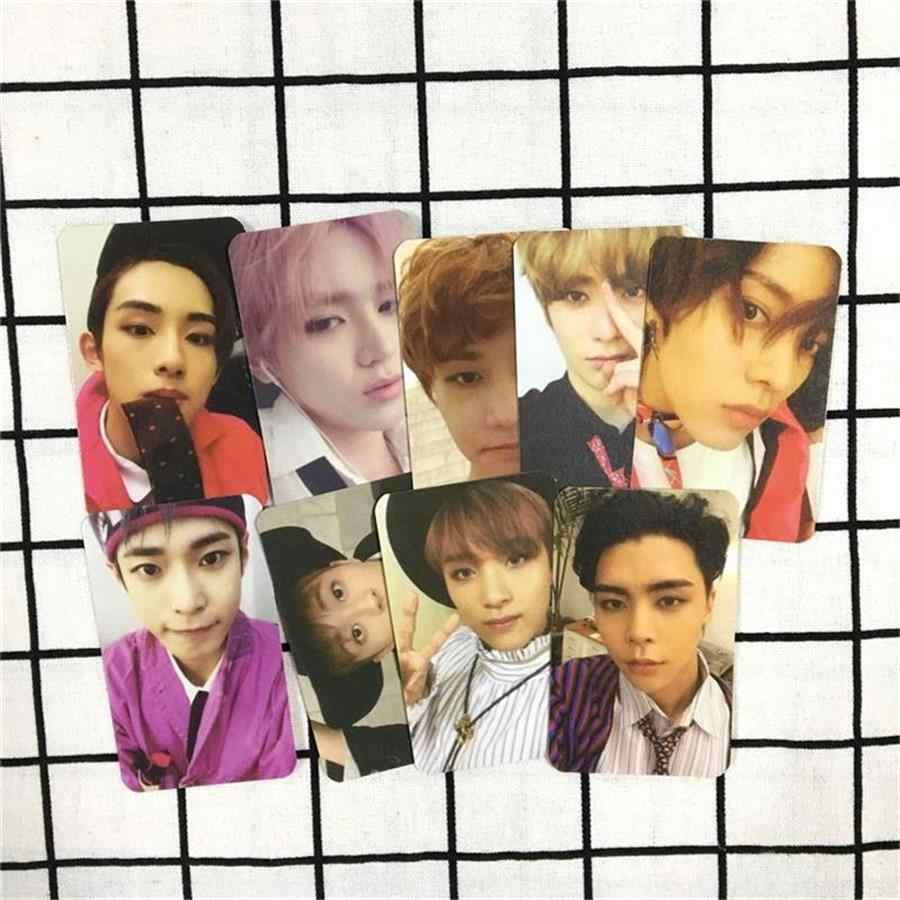 9pcs KPOP NCT 127 Cherry Bomb Photo Card Self Made Paper Cards Autograph  Photocards Hip Hop