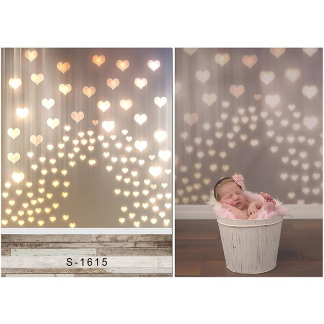 Sparkling Heart Shaped Light Baby Photography Background Newborn