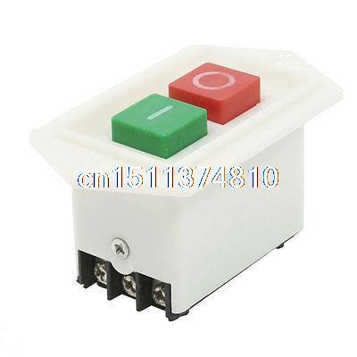380VAC 10A 6 Screw Terminals Self-Locking IO Pushbutton Switch