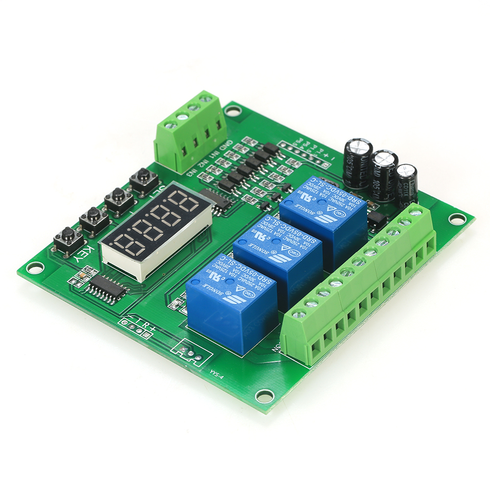 Programmable 3-Channel LED display Relay Module DC/AC7V~36V Motor Driver Controller with High-current for Arduino Raspberry Pi