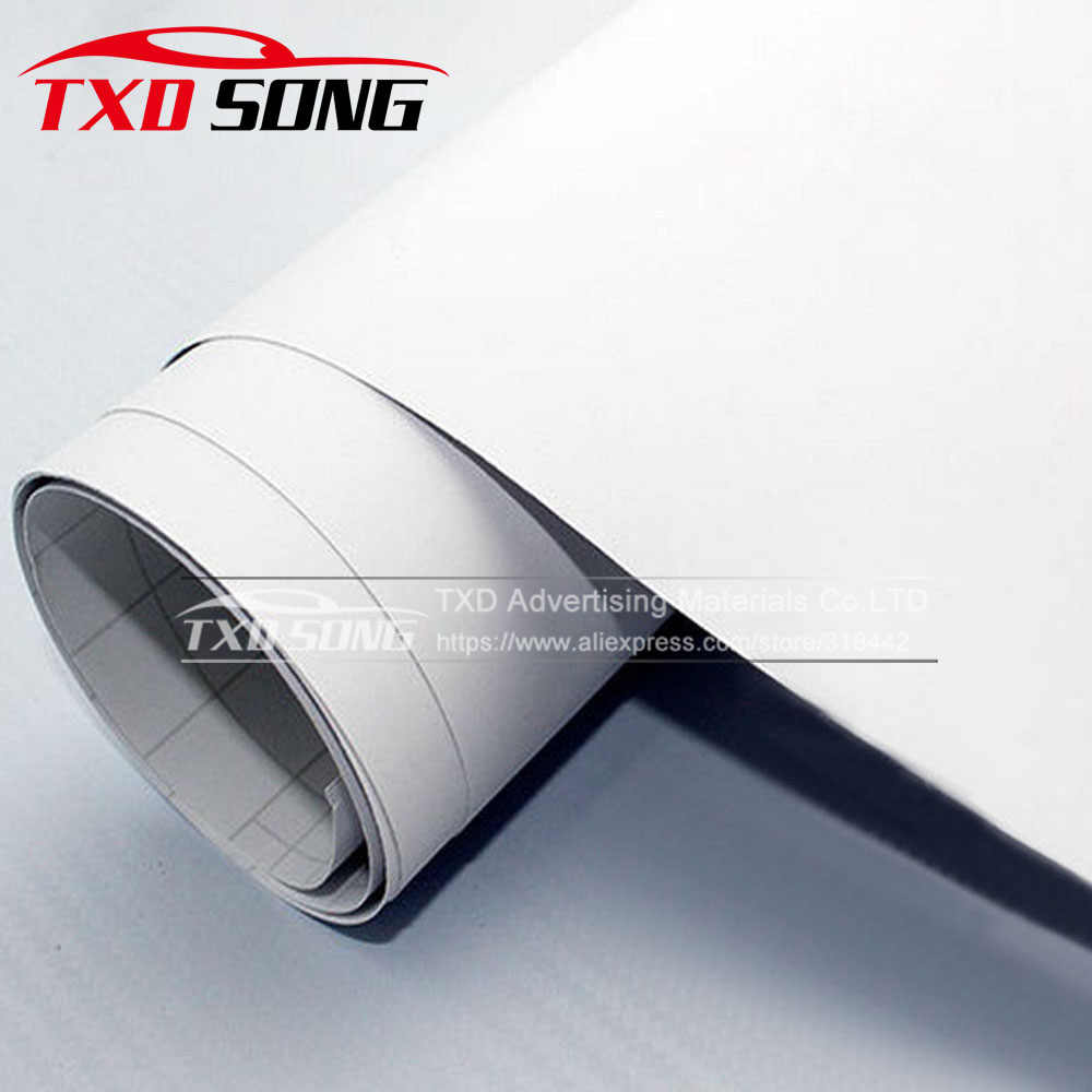 10/20/30/40/50/60X152 CM/Lot Wit Matte Vinyl Film matte auto wrap vinyl Sticker met air drains Wit Mat Vinyl Wrap Sticker