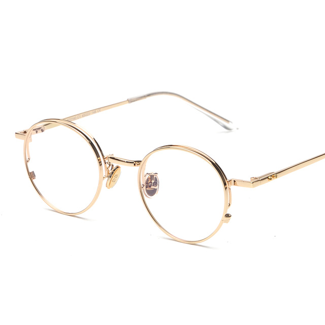 quality eye frames men vintage round gold frame glasses women rose gold eyewear clear lenses computer