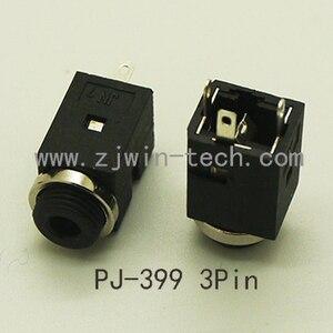 100 шт./лот 3,5 мм аудио разъем без переключателя PJ399 3P гнездовой разъем винтовая гайка розетка DIY с 4P Золотой штекер