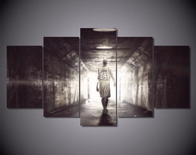 5 pieza de arte abstracto de la lona pintura de la pared del ...