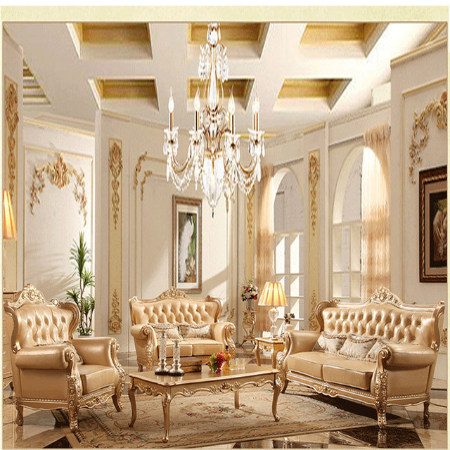 Champagne Region Interior Design Traditional Rustic: Aliexpress.com : Buy Continental Pastoral Sofa Leather