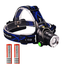 2000Lumen Headlamp Zoomable CREE XML T6 LED Zoom Headlight Rechargeable Head light lamp Flashlight Torch +18650 battery