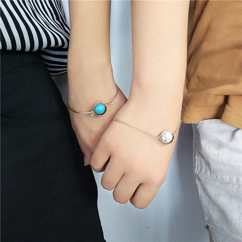 Fashion ladies Men's bracelets bracelets Natural stone circle exaggerated retro bracelet gift
