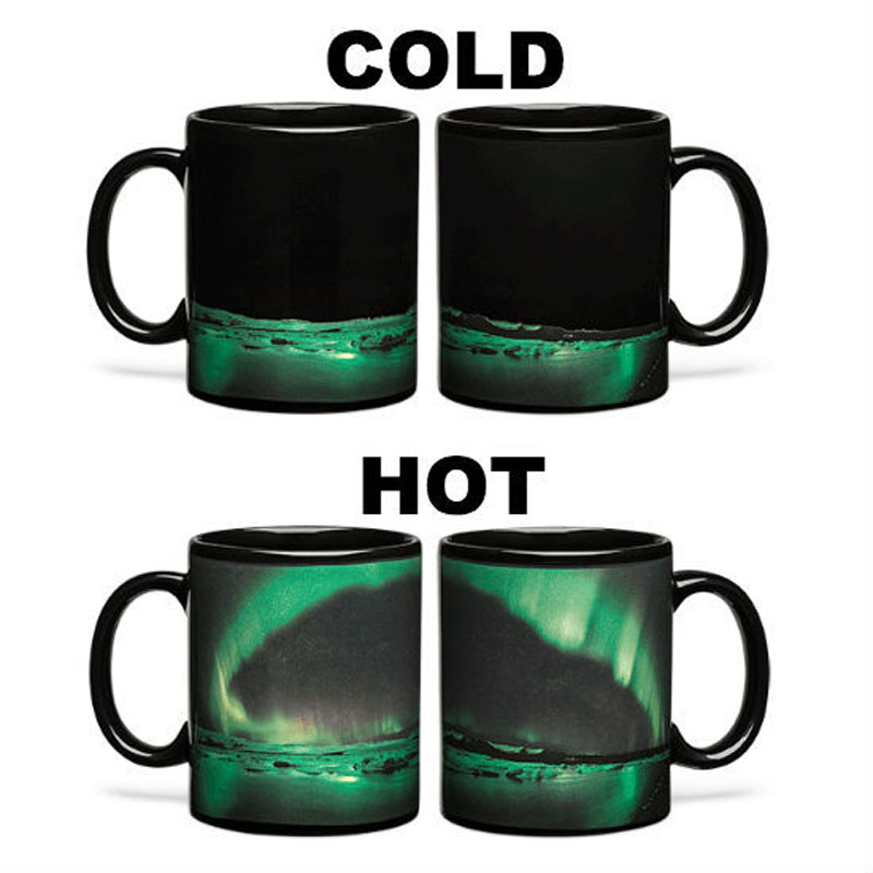 HOT Romantic Aurora Borealis Mug CERAMIC coffee cup novelty heat changing color Tea Cup For girlfriend