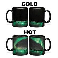 HOT! romantische Aurora Borealis Becher KERAMIK kaffeetasse neuheit wärme ändernde farbe Tee Tasse Für freundin geburtstagsgeschenk