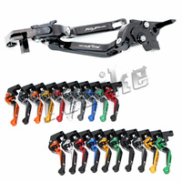 CNC Brake Clutch Levers Motorcycle For Honda VTR1000F FIRESTORM 1998 2005 2000 2001 2002 Foldable Extendable Logo (FIRESTORM)