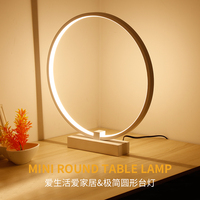LED Makeup Mirror Lamp Table Stand LED Cosmetic Mirror Night Light White shape Dia25cm Body color is white ,not pink