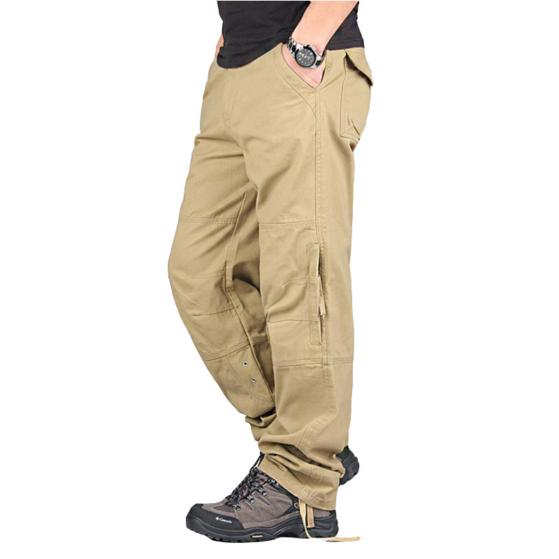 Men's Cargo Pants Casual Loose Multi Pocket Military Pants 2019 High Quality Long Trousers For Men Camo Joggers Plus Size 30-40
