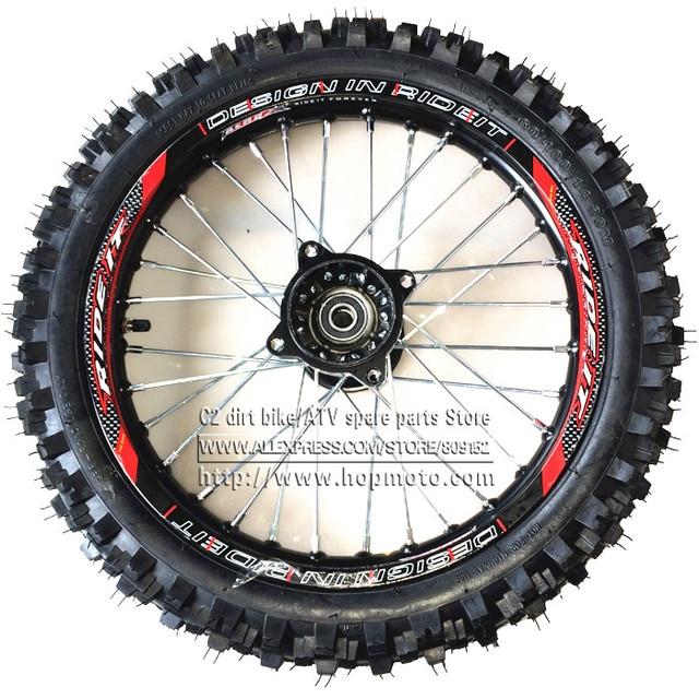 Front 14inch Pit Bike Wheels Guangli 60 100 14 Tyre Black Aluminum