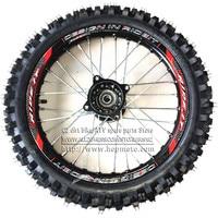 Front 14inch Pit Bike wheels GuangLi 60/100 14 Tyre Black Aluminum Alloy Rims with 32 holes spoke KTM CRF PRO KLX YZF 110cc