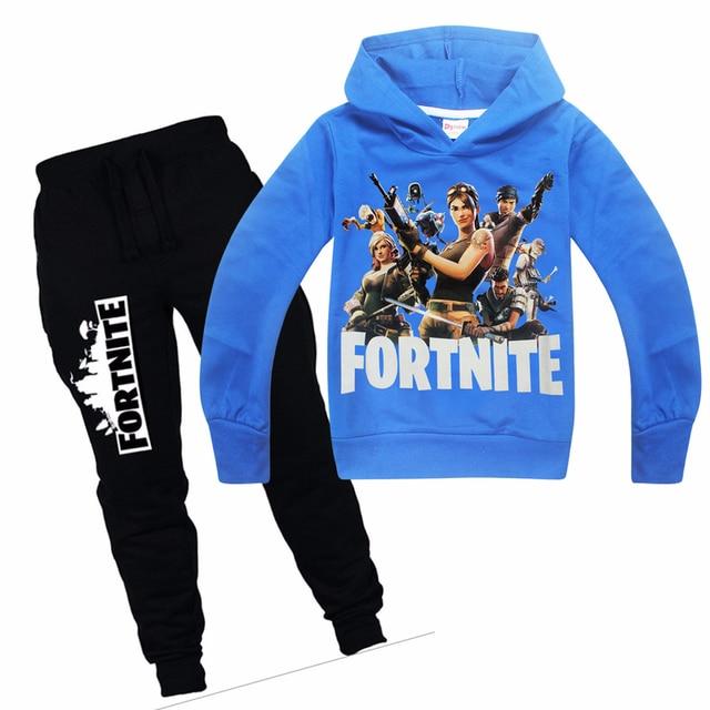 Children Hot Game Fortnight Print T-shirt Boy Girls hoodie Tops Costume For Kids Clothing Baby boys spring autumn clothes batman 1
