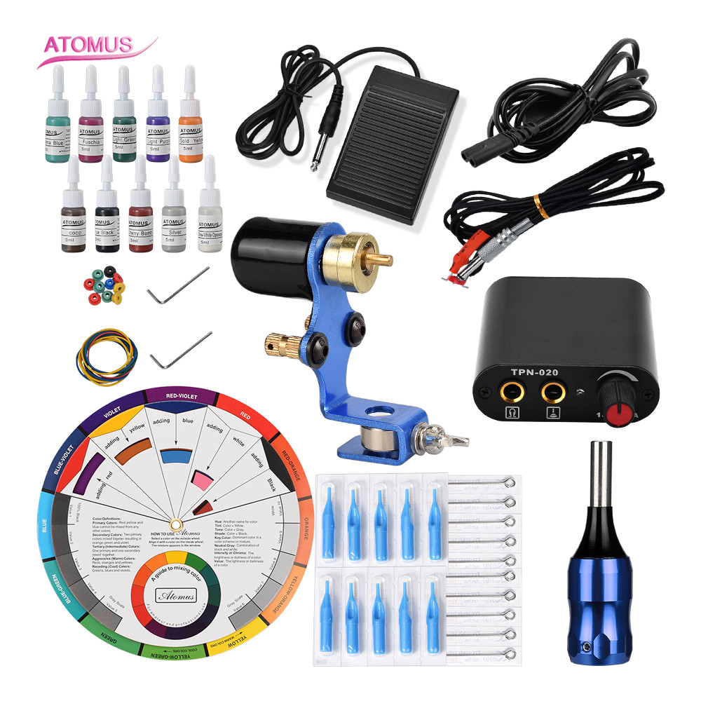 Rotary Tattoo Machine Profesional Rotary Tatoo Pen Complet Professionnelle Professional Tattos Permanent Makeup Tools Set QuitRotary Tattoo Machine Profesional Rotary Tatoo Pen Complet Professionnelle Professional Tattos Permanent Makeup Tools Set Quit