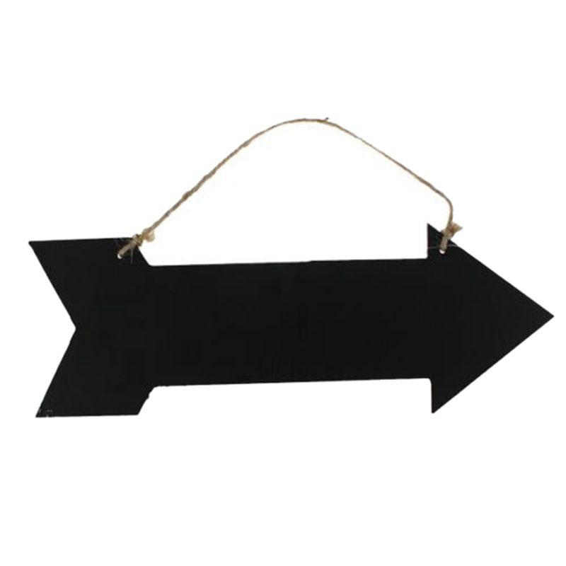 Arrow Hanging Black Chalkboard MESSAGE FUN PLAQUE KITCHEN GIFT HOME NOTE MEMO