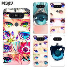 Painted Pattern Soft Rubber TPU Case For LG Q8 Q7 Q6 G6 G7 G5 G4 V40 V30 V20 V10 Transparent Cover Charming Beautiful Eyes