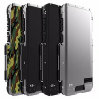 Armor King Outdoor Iron Man Stainless Steel Metal Shockproof Case Hard Silicone Back Cover for Samsung Galaxy Note 8 S9 Plus