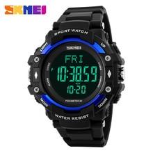 SKMEI Hombres Deportes Relojes 3D Podómetro Contador de Calorías Monitor Del Ritmo cardíaco de Salud 50 M Impermeable LED Digital Relojes de Pulsera 1180