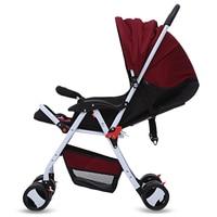 HOT SALE Baby Stroller Foldable Infant Pram Umbrella Cart Lightweight Folding Stroller With Universal Casters 4 Seasons 3colors