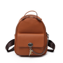 Women Backpack 2017 New Cool Fashion PU Leather backpacks for teenage girls students school bag campus Mini Travel backpack