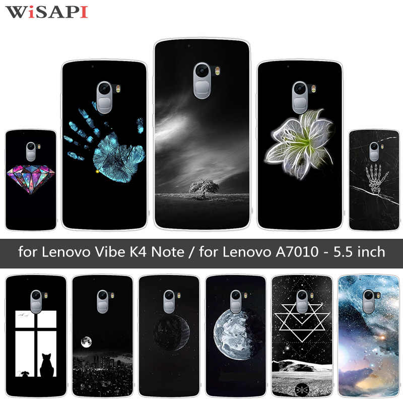 check out 24d92 d66db for Lenovo Vibe K4 Note Phone Case for Lenovo A7010 Moon Back Cover for  Lenovo K4 Note Coque for Lenovok4 K 4 Note Coque