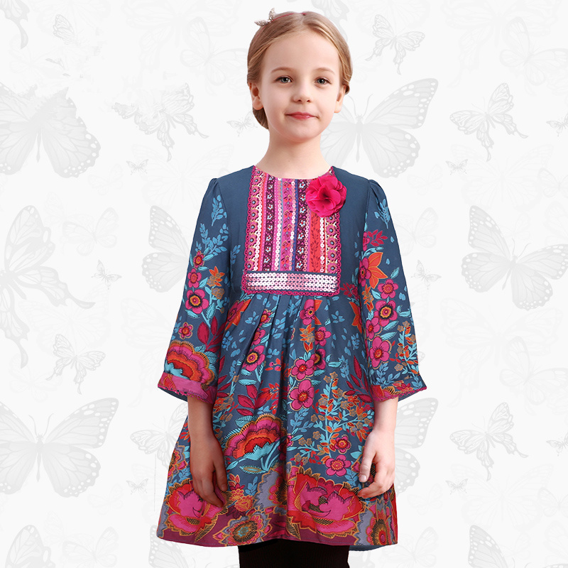 Toddler Girls Dresses Children Clothing 2017 Brand Princess Dress for Girls Clothes Fish Print Kids Beading Dress 1 10 toddler girls dresses children clothing 2017 brand princess dress for girls clothes fish print kids beading dress fanaideng 50