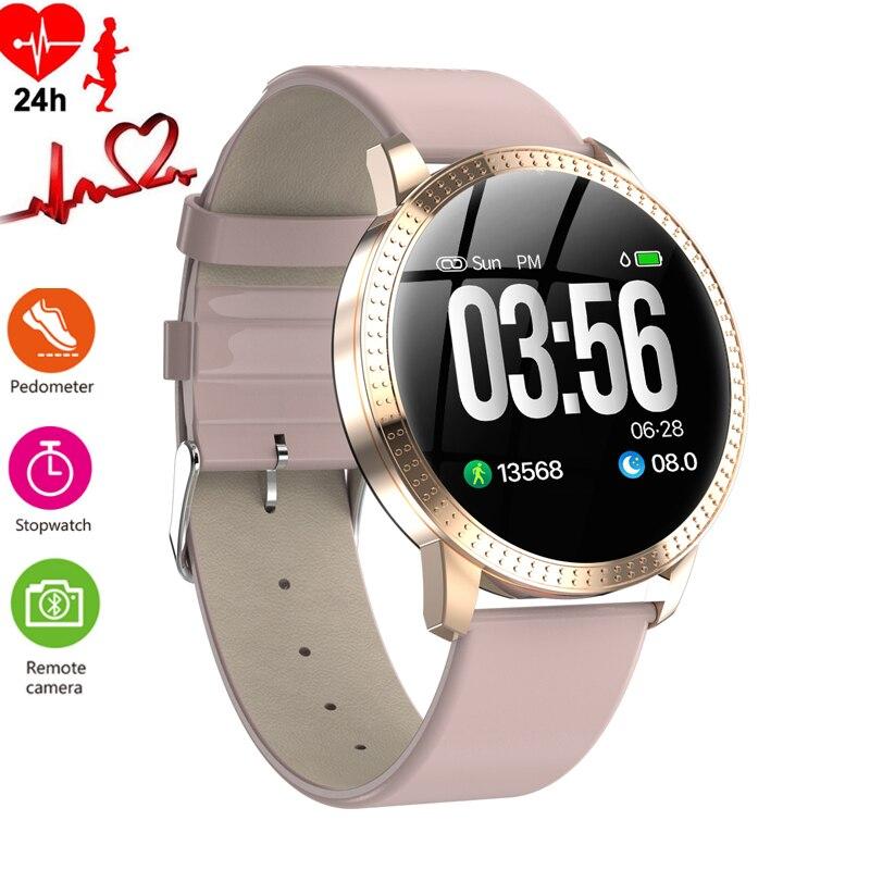 Femmes Montre Intelligente Étanche Podomètre Sport Montre Femme Luxe Tensiomètre Smartwatch montre pour femme