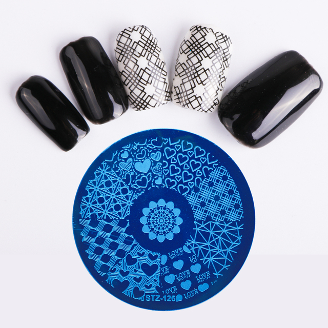 STZ Nail Art Stamping Template Dreamcather Flamingos Flower Lace Fruit Stamp Plates Nail Mold Stencil Tools Manicure STZ101-130