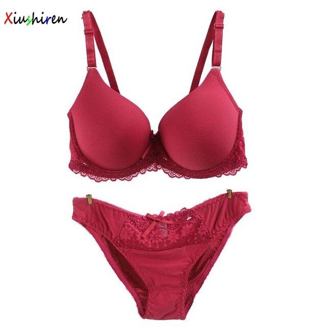 Xiushiren gran pecho mujeres sujetador de alta calidad sexo Sujetador Push  Up rojo lujo encaje suave 92daad047efb
