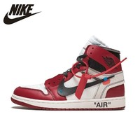 Nike Air Jordan 1 X Off white Jointly Aj1 Men's Basketball Shoes Comfortable Outdoor Sports Sneakers#AA3834 101