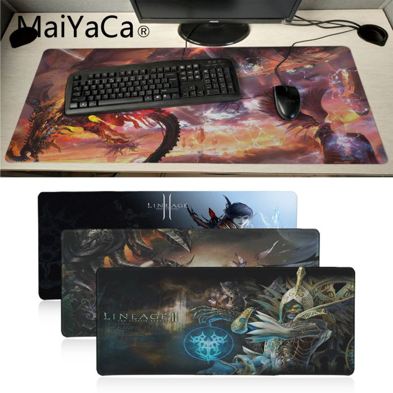 MaiYaCa High Quality Lineage 2 Best Game Laptop Gaming Mice Mousepad Anime Cartoon Print Large Size Game Mouse Pad