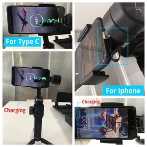 Image 5 - מיני 75mm 0 שטח Zhiyun חלק 4 /3 Gimbal תשלום כבל סמסונג סוג C כבל iphone 6 7 8 x כבל אנדרואיד מיקרו USB כבל