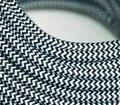 6 cabo metro/lote preto-branco cor da tela do vintage pingente têxtil cabo de alimentação da lâmpada
