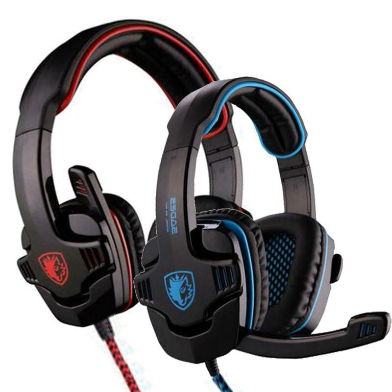 Sades 901 sa-901 sa901 7.1 Surround USB игровая гарнитура Шум шумоподавления игра наушники с микрофоном для PC Gamer ...